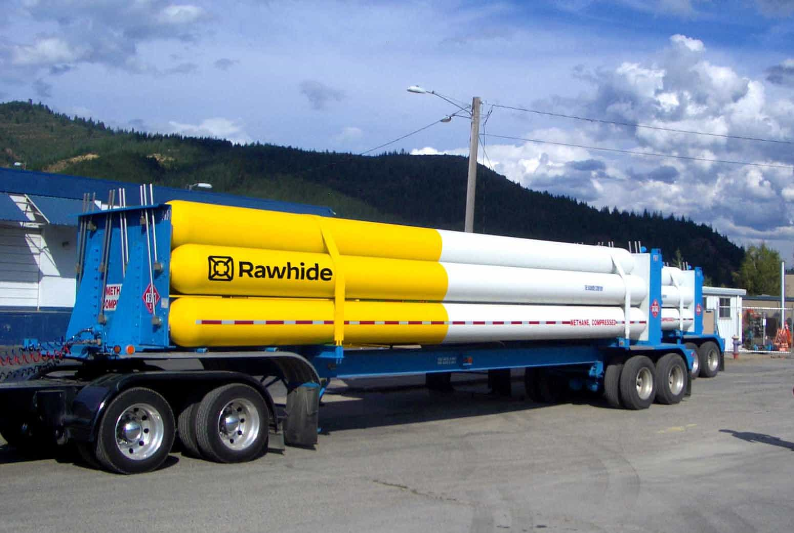 Jumbo CNG Transport Trailer on a Virtual Pipeline